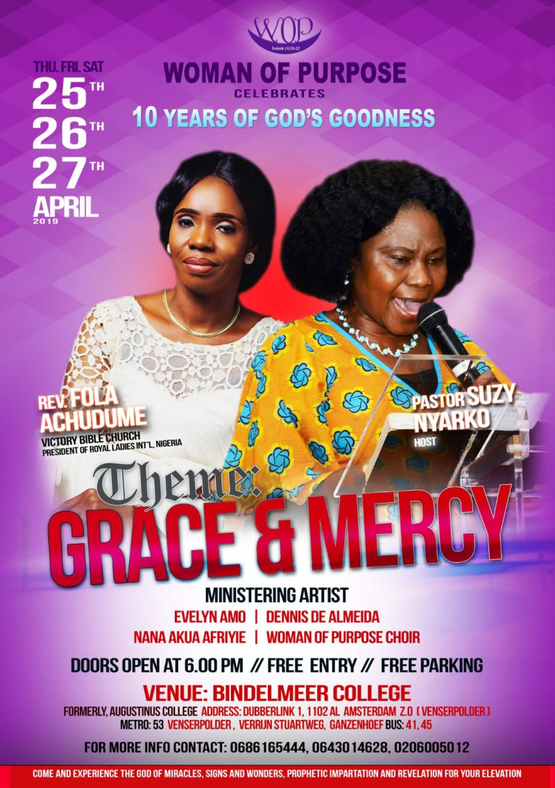 Conferen of Woman of Purpose. Theme Grace and Mercy